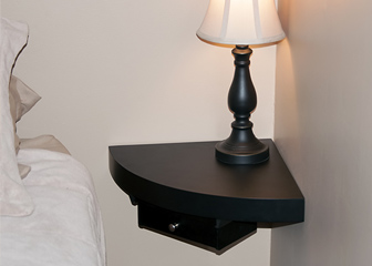 Floating nightstand ideas homesfeed - Corner wall shelves lowes ...