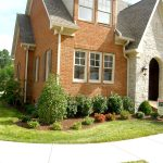 front yard landscape plans and stunning house with brick wall and double hung windows