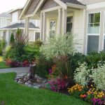 front yard landscape plans for amazing  home design plus colorful plants and green plants