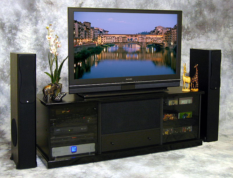 the entertainment system furniture you need to see homesfeed. Black Bedroom Furniture Sets. Home Design Ideas
