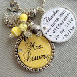 gorgeous classic round day care teacher gift idea made of metal material for key holder