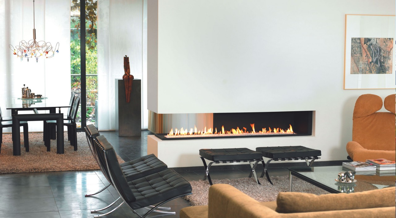 3 sided fireplace good sided fireplace modern gas fireplace