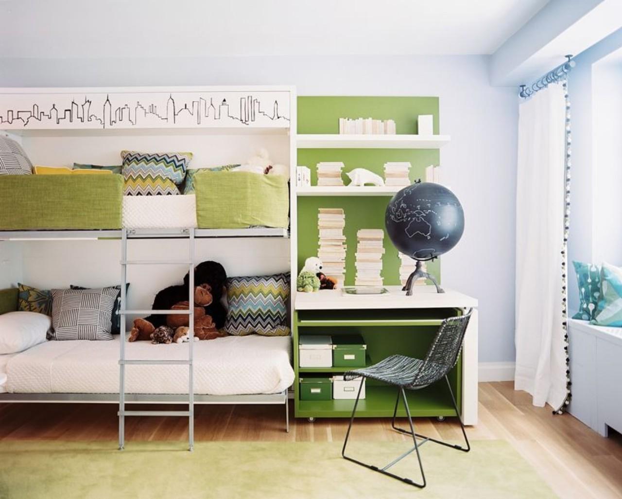 Gorgeous White Loft Desk Combo