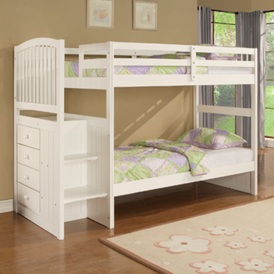 Complete your simple bedroom with low profile bunk bed for Bunk bed bedroom designs
