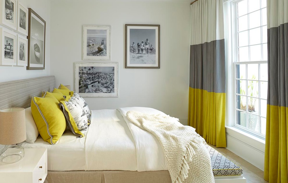 cheerful gray bedding. gorgeous yellow and gray bedroom decor with white bedding  pillows curtain Yellow Gray Bedroom Decor Neutral Meets Cheerful Nuance