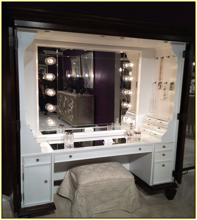 Jessica Furniture Makeup Vanity With Lights : Vanity Tables with Hollywood Style HomesFeed