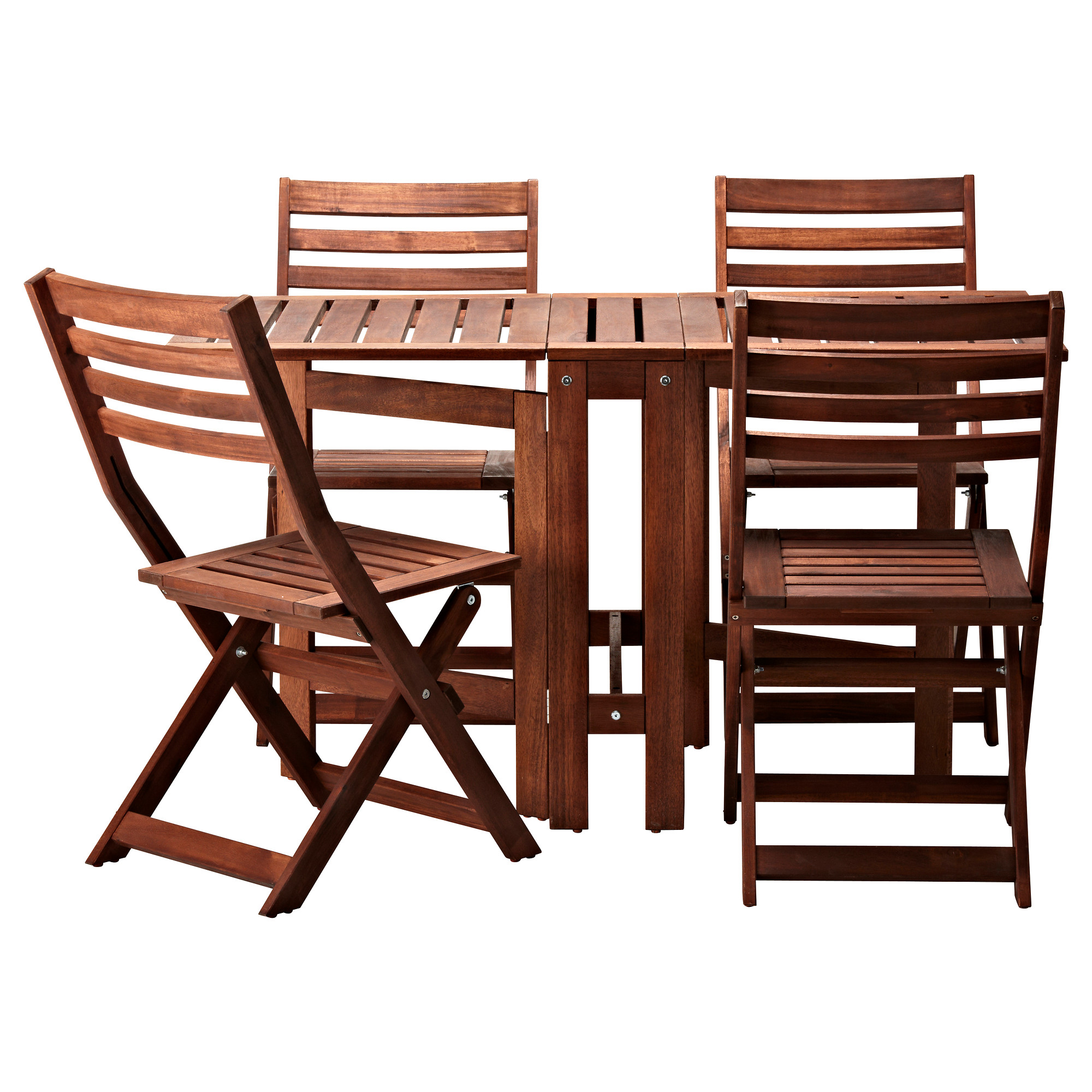 ikea bistro set made of woodebn with drop leave tables and four stunning folding chairs  sc 1 st  HomesFeed & Get a Nice Spot in Your Garden or Patio by Decorating an IKEA Bistro ...