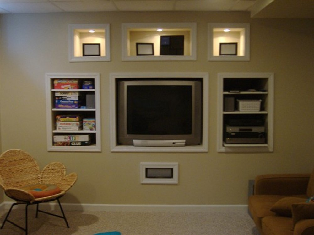 Merveilleux In Wall Entertainment Center Built On Wall With Tv Storage And Other Media  Storage Plus Book