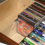 large cd storage drawers with solid wood