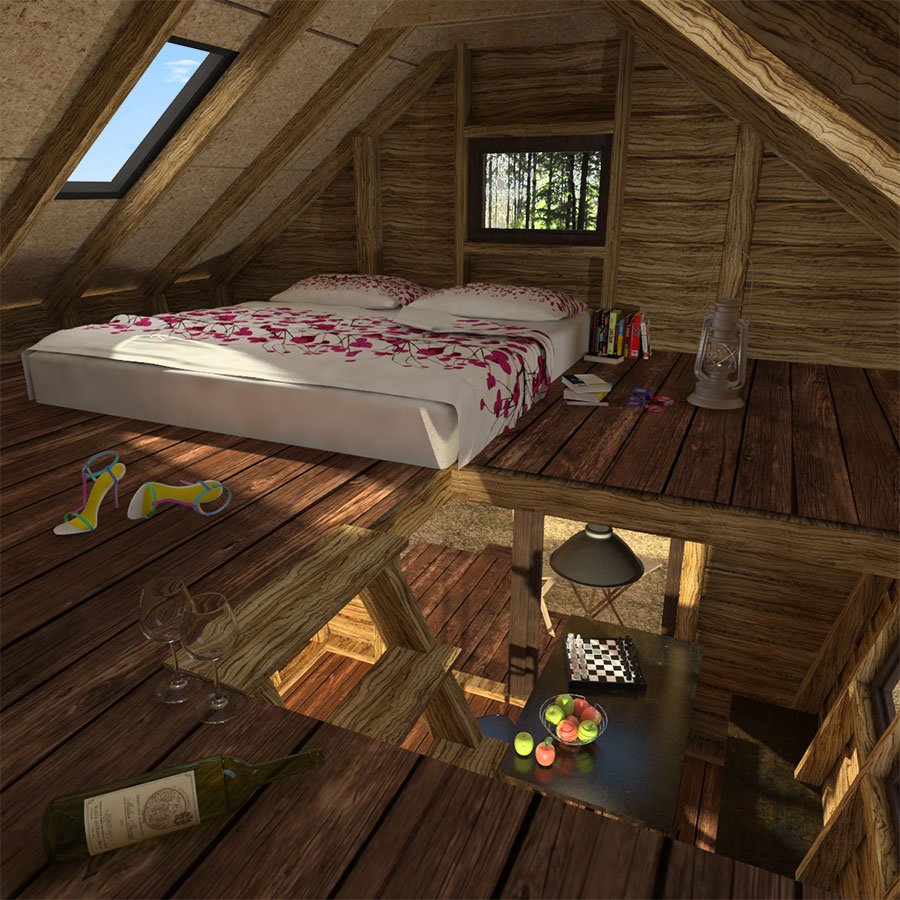 One bedroom cabin with loft floor plans for One bedroom designs