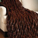 mahogay mink coutoure faux fur blanket queen in dark brown scheme to provide the warmt and comfort feeling in your home decor