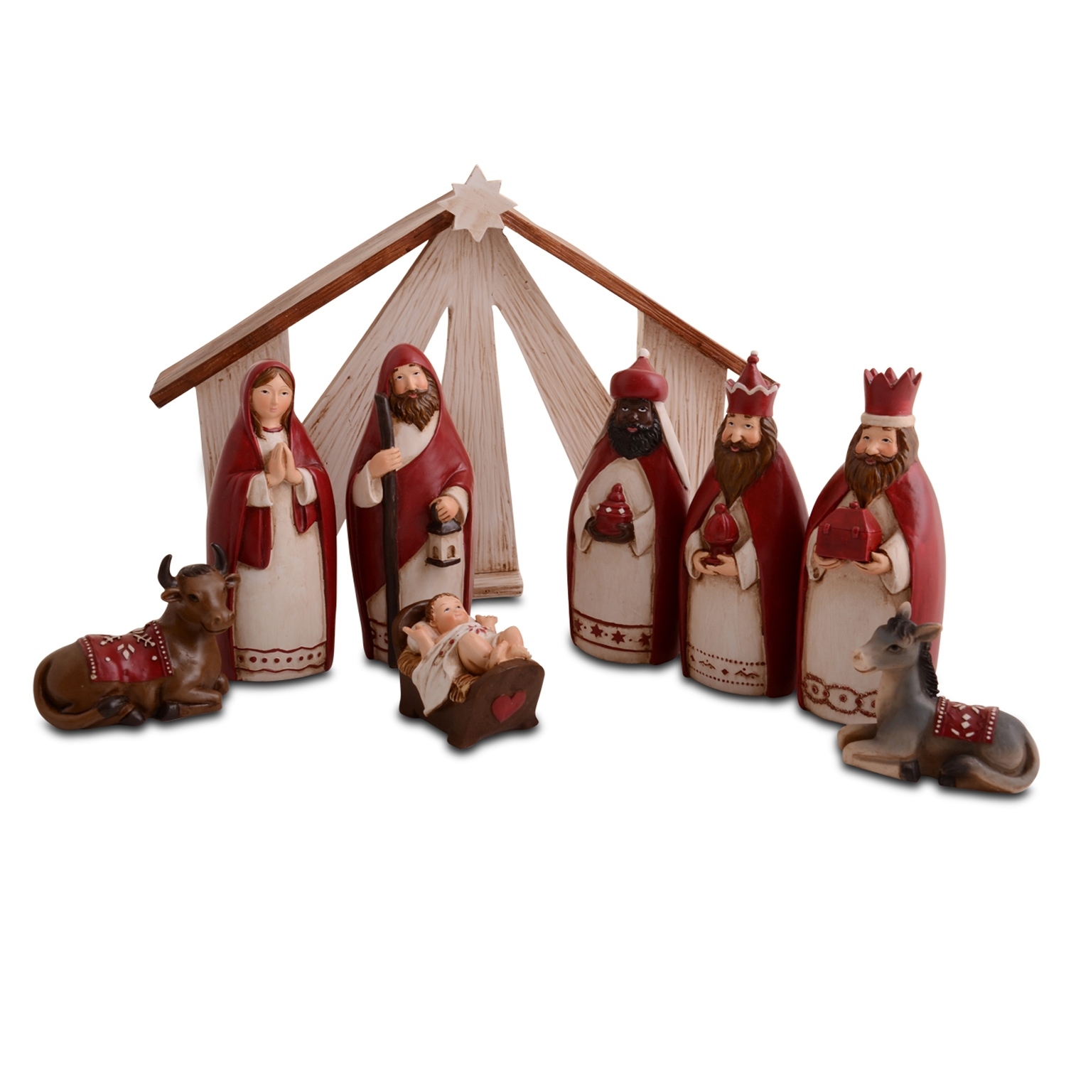 Modern Nativity Set Religious Christmas Decoration