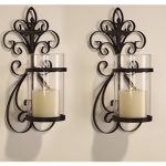 mirrored-candle-holders-sconce-with-adeco-iron-with-cross-design-hang-on-the-wall-to-hold-glass-vertical-or-candle-holders-for-candles