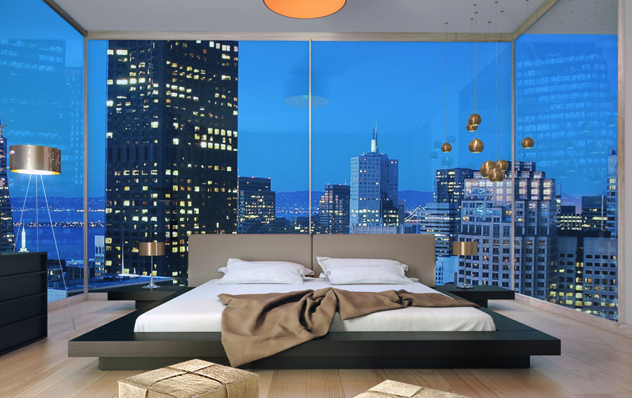 Low Profile Platform Bed Frame Displaying Interesting