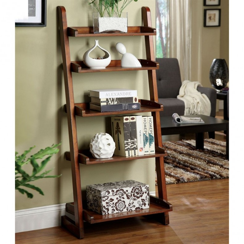 Styles The Rooms With Rustic Ladder Shelf