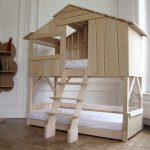 nice-tree-house-bunk-bed-still-unpainted-with-beds-in-the-corner-near-white-wall-and-large-open-window