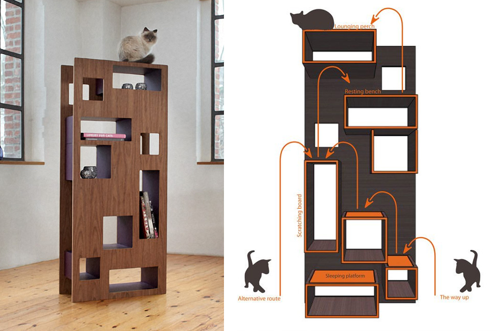 Charming WOHNBLOCK: Reading Cat Cat Tree