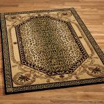 rectangular cheetah print rugs for living room ideas with cool wooden floor