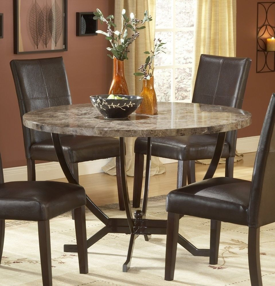 Granite Round Dining Table: Granite Dining Table Set Flooding The Dining Room With
