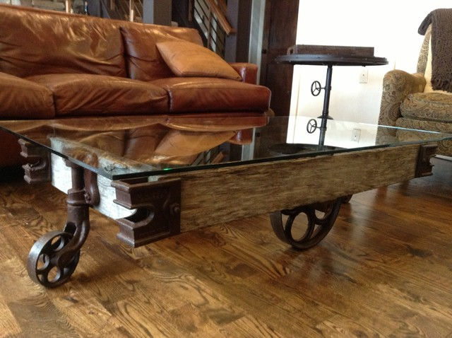 Rustic Coffee Tables Vintage Industrial Coffee Table Cart