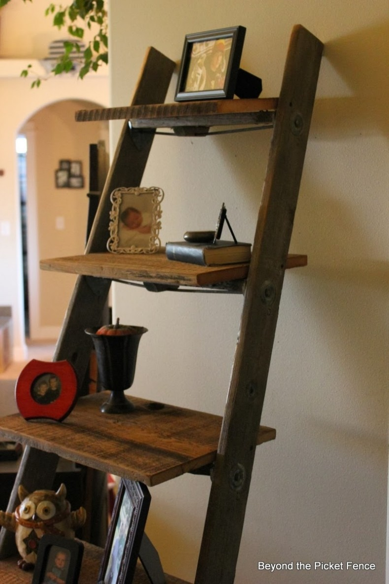 Styles The Rooms With Rustic Ladder Shelf Homesfeed