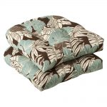 scandinavian style of outdoor target cushion idea with soft blue brown and white combination