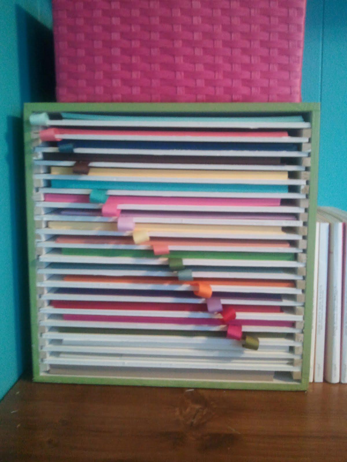 Having Scrapbook Paper Organizer Reducing Messy Desk Opportunity