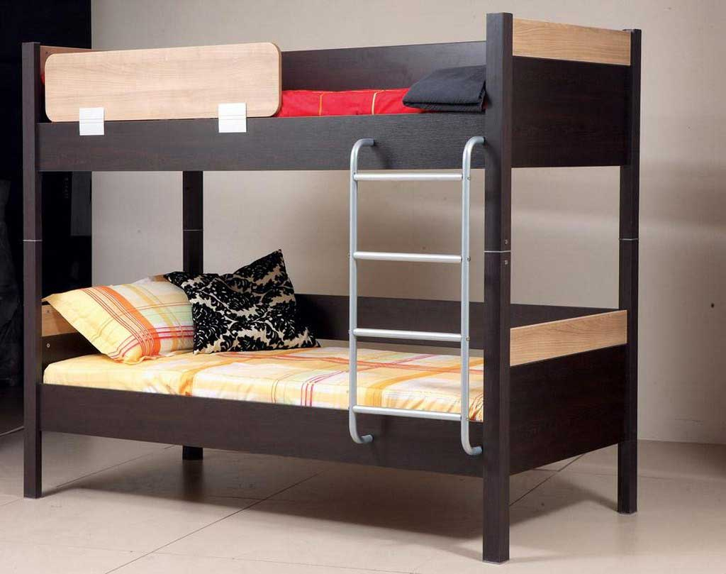 Complete your simple bedroom with low profile bunk bed for Images of bed design