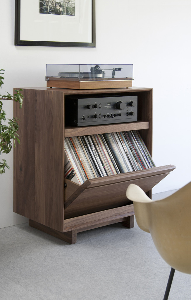 Home with ikea stereo cabinet perfect furniture homesfeed for Ikea lp storage