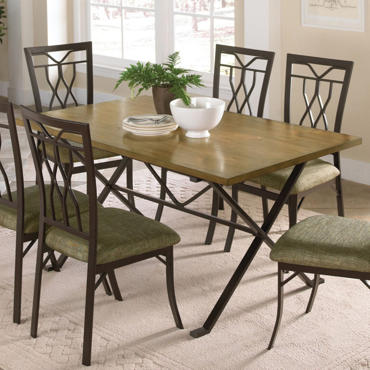 The small rectangular dining table that is perfect for for Small dining room furniture