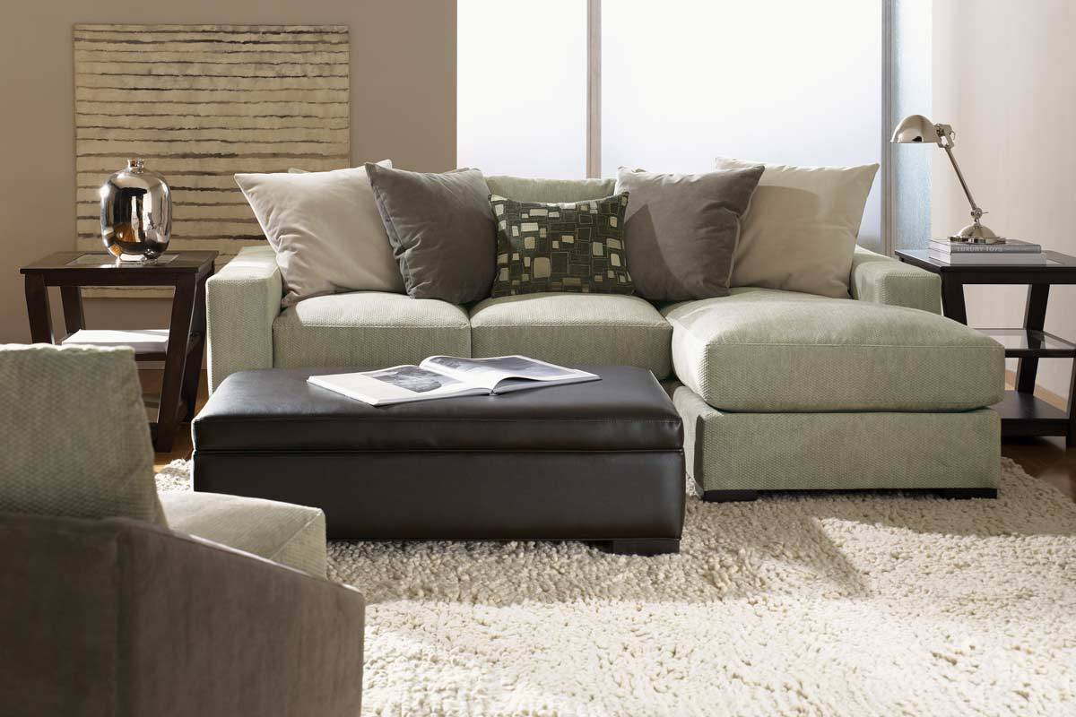 small sectional design with chaise and neutral pillows white shaggy rug idea black leather bench as : sectional sofas chaise - Sectionals, Sofas & Couches