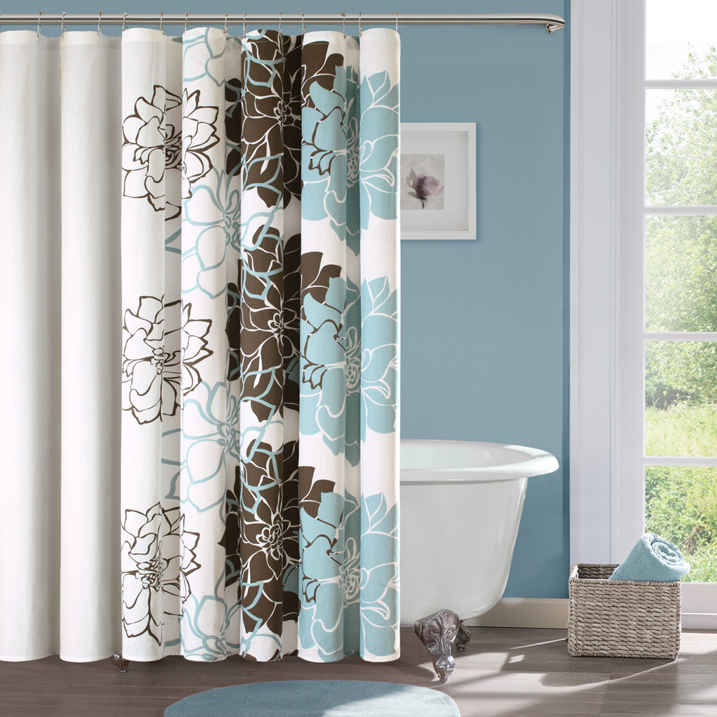 Nature shower curtain effort to bring nature awe homesfeed for Bathroom decor nature
