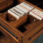 sophisticated cd storage drawers made of solid wood for home decoration