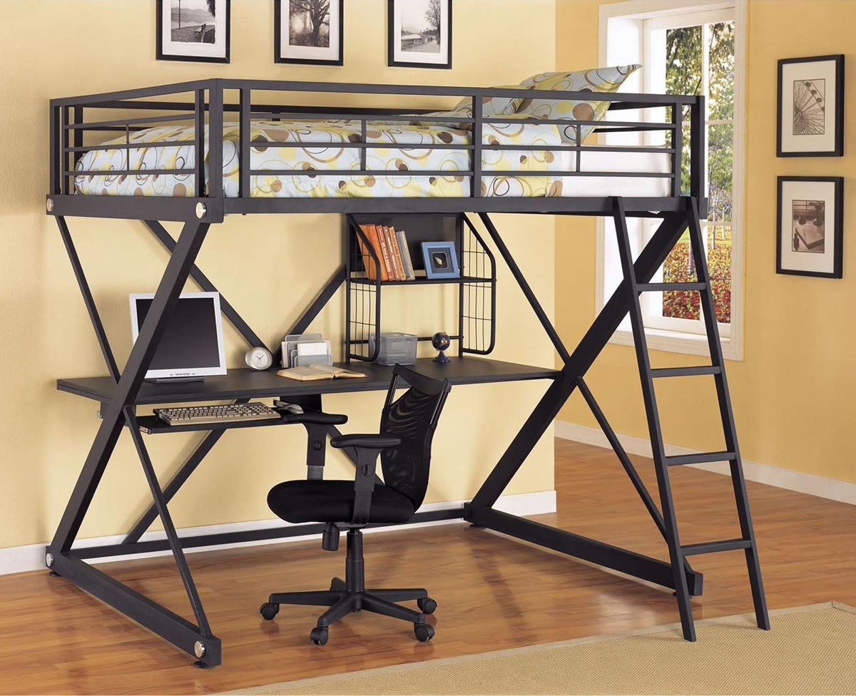 Black Loft Bed With Desk Style Meets Function Homesfeed