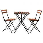 tarno ikea bistro set made of acacia wood and iron with a table and two chairs for patio ideas