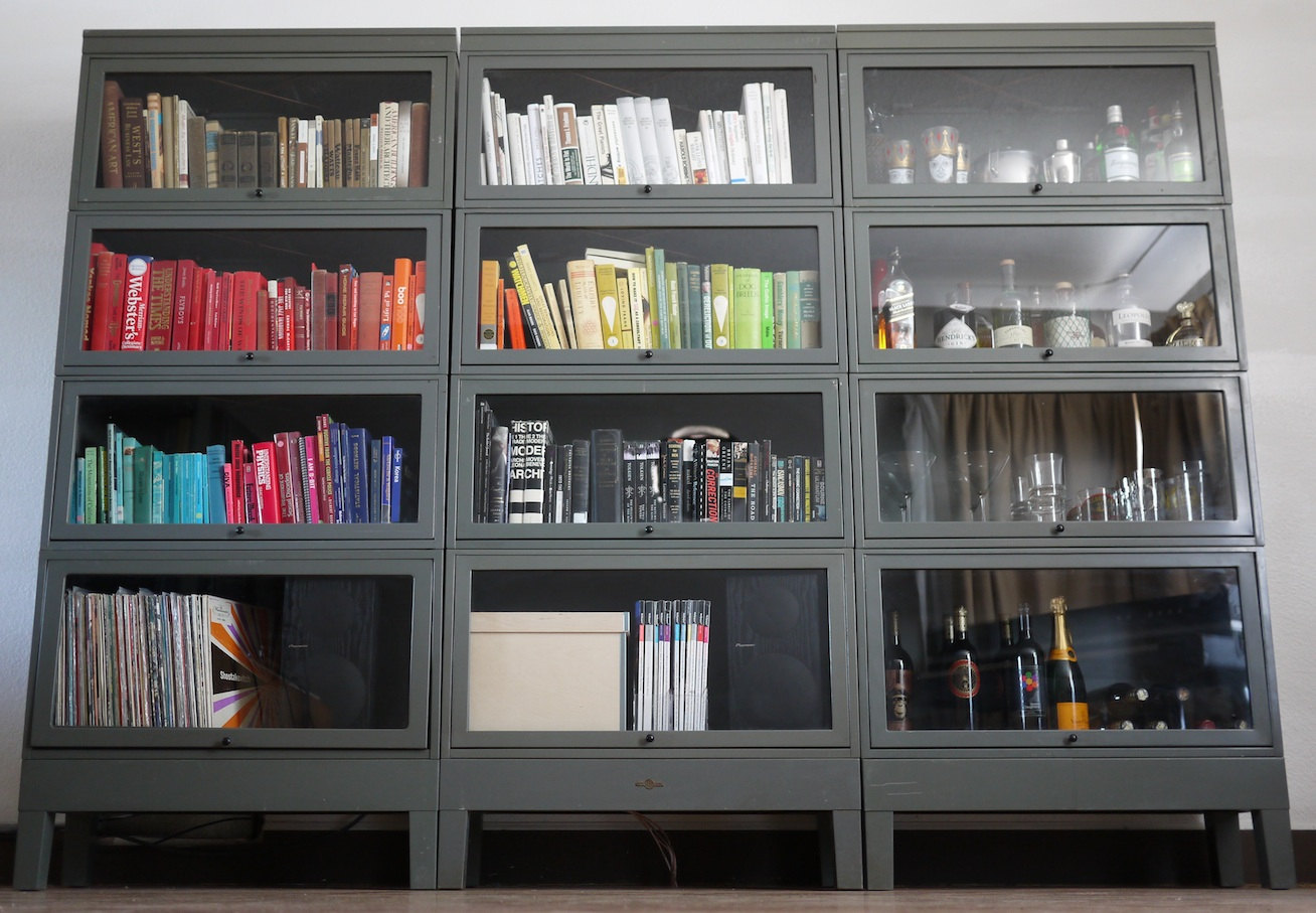 simple metal barrister bookcase for your room - Barrister Bookshelves