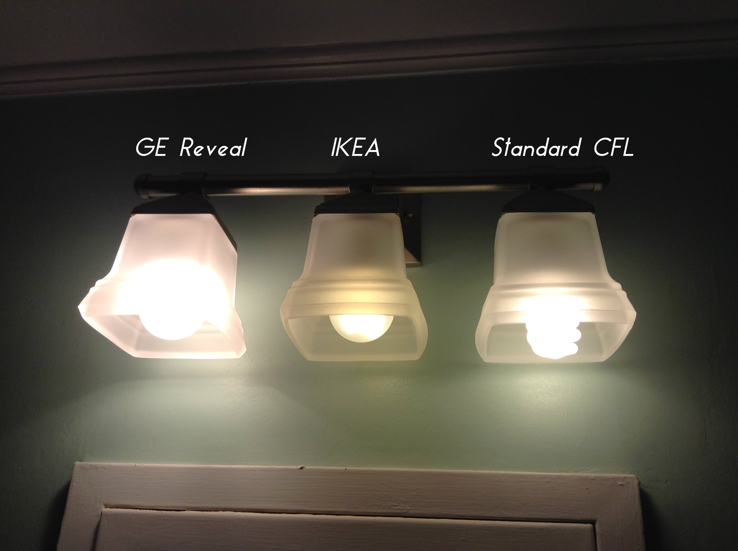 Three Gorgeous Green Lighting Idea Of Can Conversion Light With Different  Size In White Semi Transparent