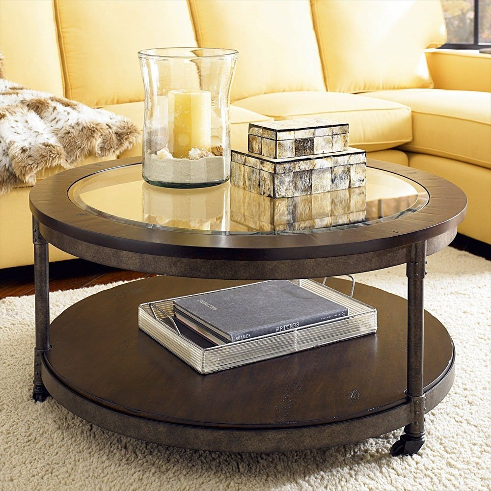 The round coffee tables with storage the simple and for Living room ideas without coffee table