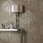 tree-silhouette-pattern-and-wallpaper-for-near-table-lamp-on-the-small-table-with-photos