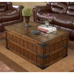 trunk end table for living room a set of leather sofa