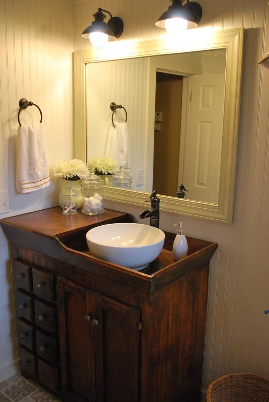 Unique Bathroom Design With Wooden