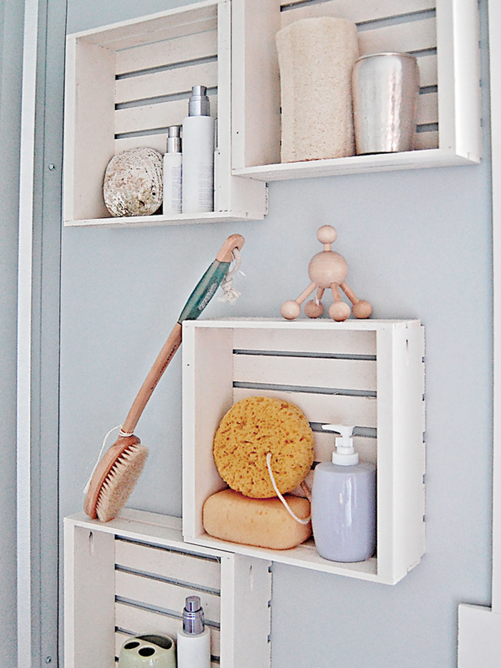 Towel Shelves In The Bathroom From Messy To Stylish HomesFeed - White bathroom towel shelf for small bathroom ideas