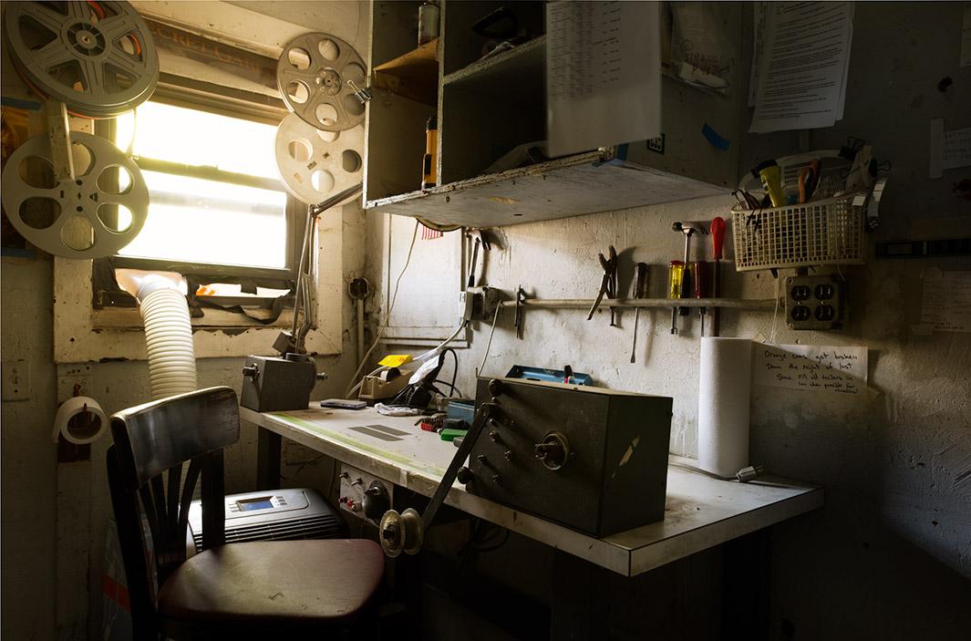 Editing Table At Cobble Hill Cinema Brooklyn NY
