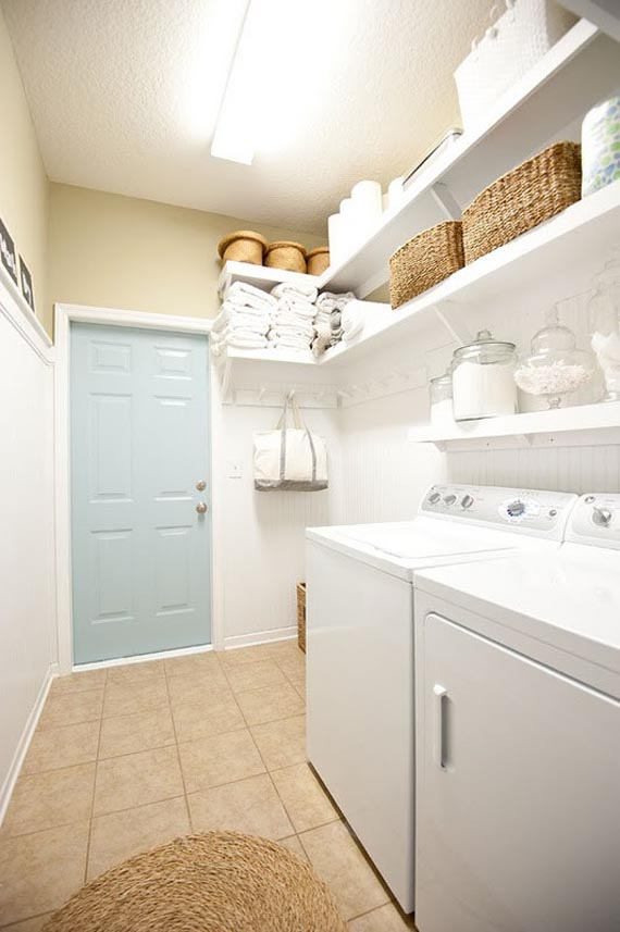 Shelving for laundry room ideas homesfeed for Laundry room shelving
