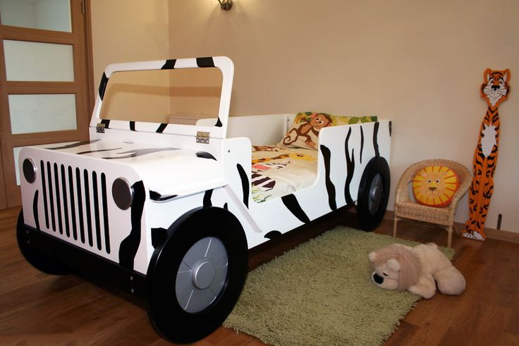 Green Jeep Toddler Bed