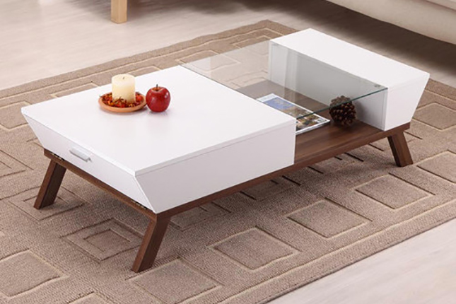 Coffee Table Designs ~ Wide designs of white coffee table with storage homesfeed