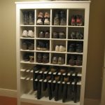 white wooden shoes and boot rack design