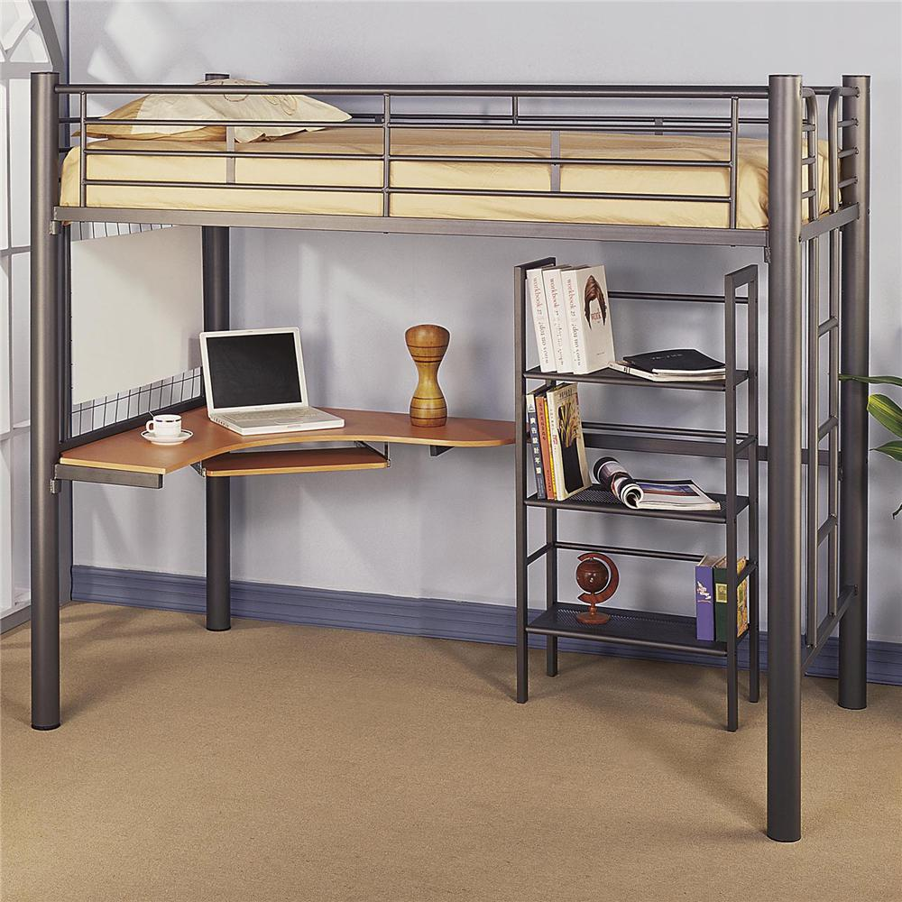 Black loft bed with desk style meets function homesfeed for Loft storage