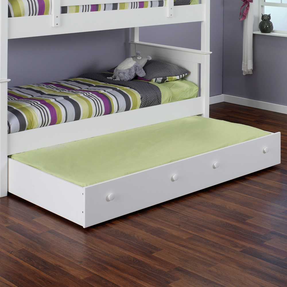 pop up trundle bed frame nice accent for playful bedroom homesfeed. Black Bedroom Furniture Sets. Home Design Ideas