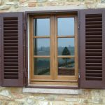 wooden outdoor window shutter idea